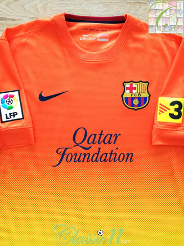 2012/13 Barcelona Away La Liga Football Shirt (M)