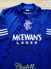 1994/95 Rangers Home Football Shirt (S)