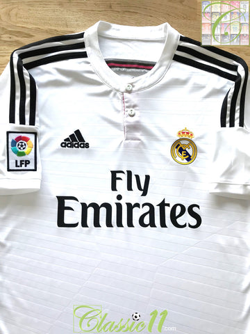 2014/15 Real Madrid Home La Liga Football Shirt (L)