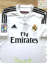 2014/15 Real Madrid Home La Liga Football Shirt (M)