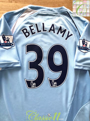 2008/09 Man City Home Premier League Football Shirt Bellamy #39 (M)