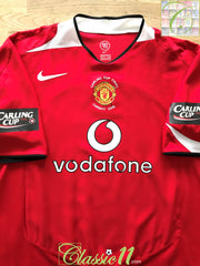 2006 Man Utd Home Carling Cup Final Football Shirt (XXL)