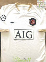 2006/07 Man Utd Away Champions league Football Shirt (L)