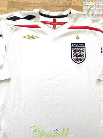 2007/08 England Home Football Shirt (XL)