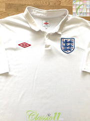 2009/10 England Home Football Shirt (M)