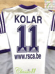 2002/03 Anderlecht Home Football Shirt Kolar #11 (XL)