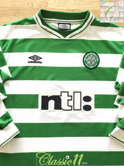 1999/00 Celtic Home Football Shirt. (XL)
