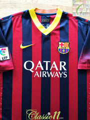 2013/14 Barcelona Home La Liga Player Issue Football Shirt (XL)