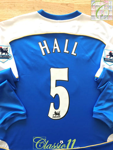 2006/07 Wigan Athletic Home Premier League Football Shirt Hall #5 (L)