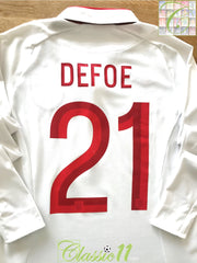 2012/13 England Home Football Shirt. Defoe #21 (S)