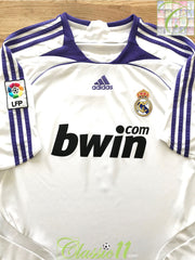 2007/08 Real Madrid Home La Liga Football Shirt (L)