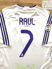 2007/08 Real Madrid Home La Liga Football Shirt Raul #7 (XL)