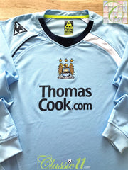 2008/09 Man City Home Football Shirt. (XL)