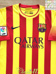 2013/14 Barcelona Away La Liga Football Shirt (S)