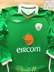 2008/09 Republic of Ireland Home Football Shirt. (L)