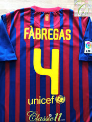 2011/12 Barcelona Home La Liga Football Shirt Fabregas #4 (L)