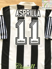 1995/96 Newcastle United Home Football Shirt Asprilla #11 (XL)