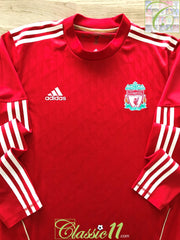 2010/11 Liverpool Home Techfit Football Shirt. (XL)