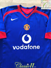 2005/06 Man Utd Away Football Shirt (L)