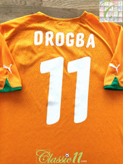 2010/11 Ivory Coast Home Football Shirt Drogba #11 (XL)