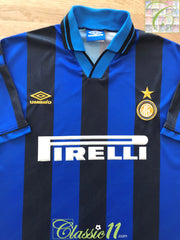 1995/96 Internazionale Home Football Shirt (L)