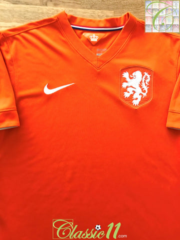 2014/15 Netherlands Home Football Shirt (XL)