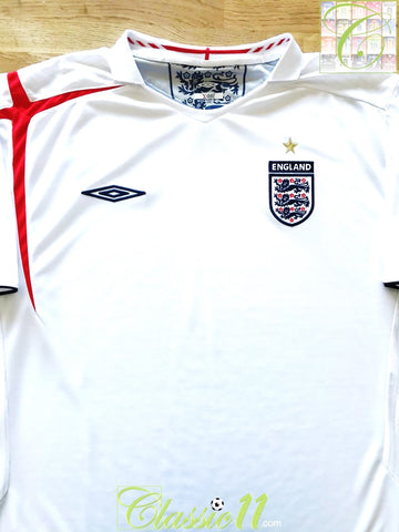 2005/06 England Home Football Shirt (M)