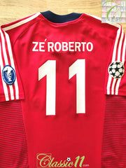 2002/03 Bayern Munich Home Champions League Football Shirt Ze Roberto #11 (M)