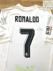 2015/16 Real Madrid Home World Champions Football Shirt Ronaldo #7 (S)