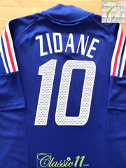 2002/03 France Home Football Shirt Zidane #10 (S)