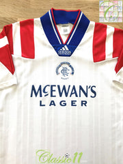 1992/93 Rangers Away Football Shirt (S)