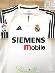 2003/04 Real Madrid Home La Liga Football Shirt (S)