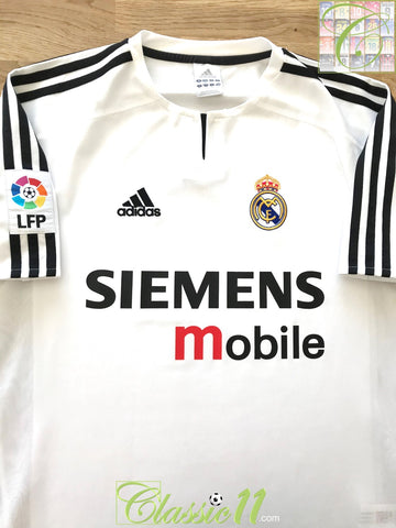 2003/04 Real Madrid Home La Liga Football Shirt (XL)
