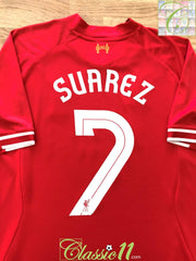 2013/14 Liverpool Home Football Shirt Suarez #7 (M)