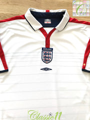 2003/04 England Home Football Shirt (M)