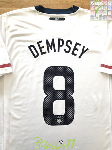 2010/11 USA Home Football Shirt Dempsey #8 (L)