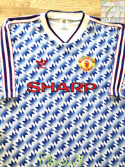 1990/91 Man Utd Away Football Shirt (S)