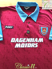 1995/96 West Ham Home Football Shirt (XXL)