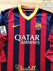 2013/14 Barcelona Home La Liga Football Shirt. (XL)