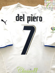 2006 Italy Away World Cup Football Shirt (XXL)