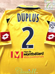 2010/11 Sochaux Home Ligue 1 Player Issue Football Shirt Duplus #2 (L)