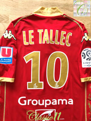 2009/10 Le Mans Home Ligue 1 Player Issue Football Shirt Le Tallec #10 (L)