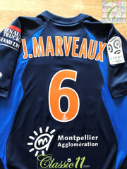 2009/10 Montpellier Home Ligue 1 Player Issue Football Shirt Marveaux #6 (S)