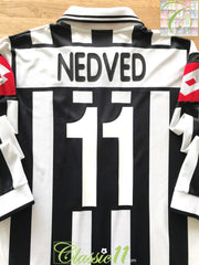 2001/02 Juventus Home European Football Shirt. Nedved #11 (XL)