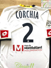 2011/12 Sochaux Away Ligue 1 Player Issue Football Shirt Corchia #2 (L)