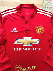 2017/18 Man Utd Home Football Shirt. (M)