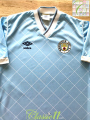 1987/88 Man City Home Football Shirt (S)