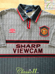 1995/96 Man Utd Away Football Shirt (XXL)