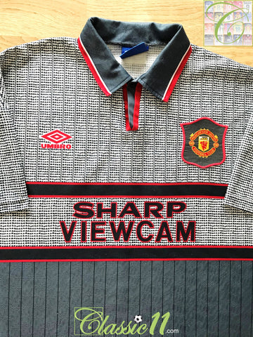 1995/96 Man Utd Away Football Shirt (L)