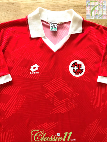 1992/93 Switzerland Home football Shirt (L)